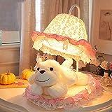 Die besten Verkauf von Tischleuchten - Tischleuchte, LED-Kipphebel-Lampe --- Nette rosa Spitze Minimalist moderne Bewertungen