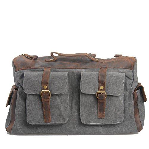 it e le donne borsa da viaggio di piacere spalla portatile funzione Messenger dark gray