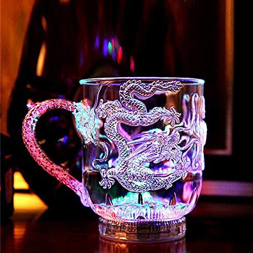 LED automatische Wasser aktiviert blinkende Tasse Blitzlicht leuchten glühende Weingläser Disco Nachtclubbing Whisky Becher Bier Tasse size 6PCS (1#) - Multi Weingläser Farbige
