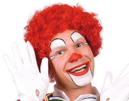 Karneval-Klamotten Kostüm Perücke Clown Locken rot Zubehör Zirkus Karneval