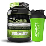 Advance Nutratech Malt Gainer 2Kg (4.4 Lbs) Chocolate With Free Shaker With 20 Servings