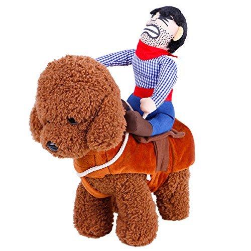 UHeng Funny Pet Hund Katze Kleid bis Kleidung Cowboy Reiter Pferd Halloween-Kostüm, XL, Size: XL