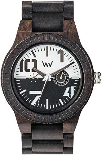 Wewood Orologio Analogico Quarzo Uomo con Cinturino in Legno WW51002