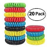 GreeSuit Bracelets anti-moustiques -20 pack - sans déconnexion, tout naturel - 240 heures de voyage bandes répulsives contre les insectes protection intérieure et extérieure bandes de poignets étanches lutte antiparasitaire pour enfants adultes
