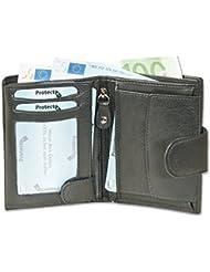 Rimbaldi - boulon portefeuille en mode portrait avec le système RFID de blocage de l'amende, chamois non traitée en noir