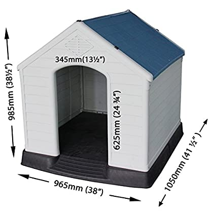 Easipet XL Plastic Dog Kennel, Weatherproof for Outdoor Use 21939 2