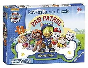 Ravensburger Paw Patrol - Puzzle de 24 Piezas, Forma Gigante