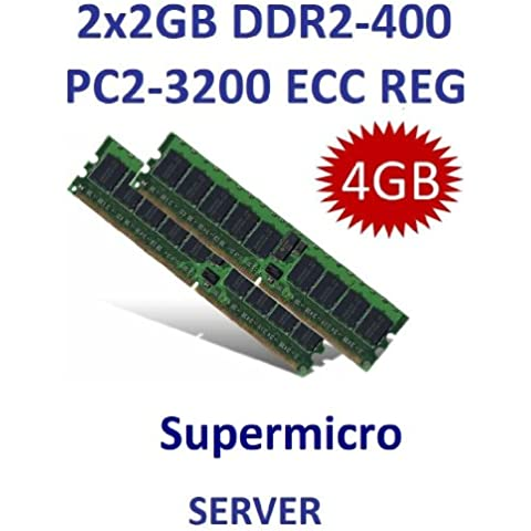 Kit Dual Channel: 2 x 2 GB = 4 GB 240 pin DDR2 – 400 ECC Registered Dimm (400MHz, PC2 – 4200R CL3, 1.8 V, (Ddr2 Pc2 3200 Dual Channel)