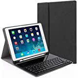 """Teepao Detachable Keyboard Case For New IPad 9.7"""" 2018&2017, IPad Pro 9.7, IPad Air/Air 2, Ultra-Thin Bluetooth Keyboard Case With Built-in Stand And Pencil Holder, Lightweight"""