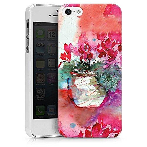 Apple iPhone X Silikon Hülle Case Schutzhülle Gemälde Rosen Blumen Hard Case weiß