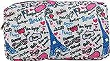 Shellbag Trousse de Toilette Voyage Maquillage Paris (Blanc)