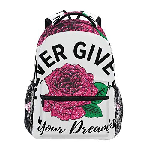 SIONOLY Rucksack,Mädchen Glitter Print T Shirt Design,Neu Lässige Daypack School Bookbag Verstellbare Umhängetaschen Reiserucksack -
