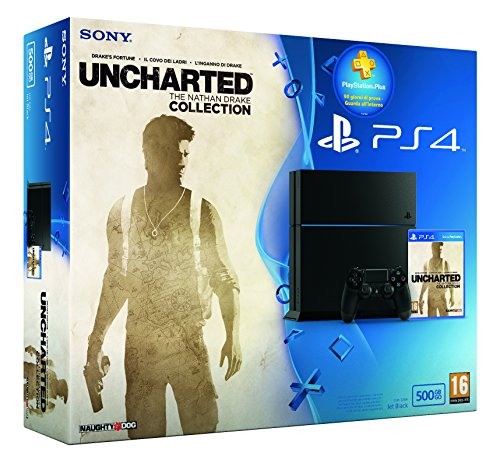PS4 500GB + UNCHARTED COLL. + PS PLUS 90GG