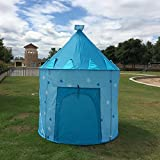 #1: PIGLOO® Kids Play Tent Indoor Outdoor - for Boys Girls Baby Toddler Playhouse Prince House Castle Blue Foldable Tents with Carry Case