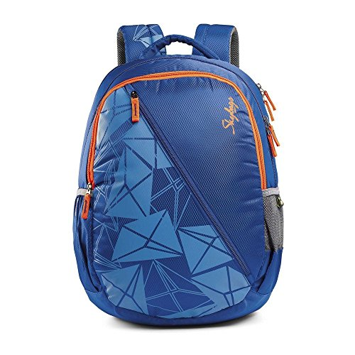 Skybags Pogo Polyester 32 Liters Blue School Backpack