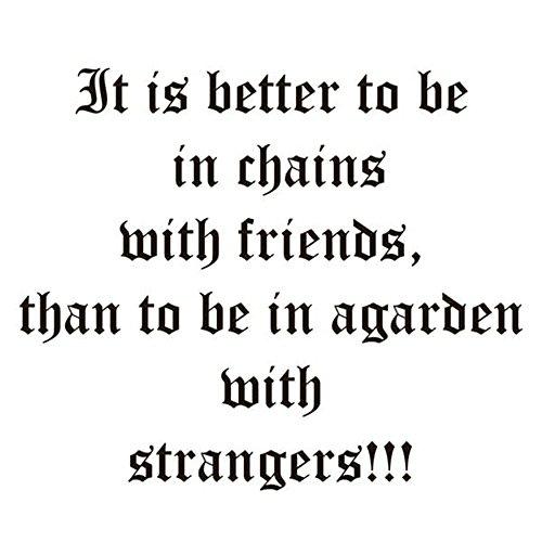 Wandaufkleber Kinderzimmer Es ist besser, mit Freunden in Ketten zu sein. Freundschaft