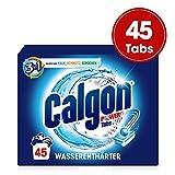 Calgon 3in1 Power Tabs - Wasserenthärter gegen Kalkablagerungen und Schmutz in der Waschmaschine - Beugt unangenehmen Gerüchen vor - 1 x 45 Tabs