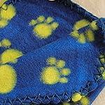 Greenlans Pet Dog Blanket Fleece Fabric Soft Cute Paw Print Warm Beds 6