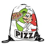 DSGFSQ Sporttaschen Turnbeutel Drawstring Backpack Gym Bag Travel Backpack Pizza Cartoon Small Drawstring Backpacks for Women Men Adults