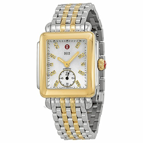 Michele Michele Decorative Mother of Pearl Dial Two-Tone Ladies Watch MWW06 V000042