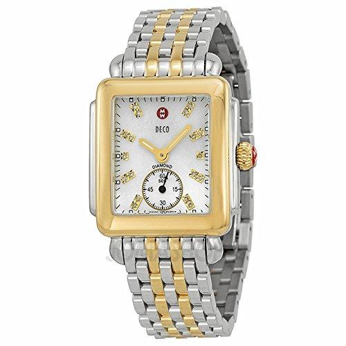 Michele Michele Deco Madre de Perla Dial Bicolor Damas Reloj MWW06V000042