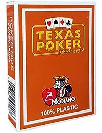 Cartes Texas Poker 100% plastique (marron)