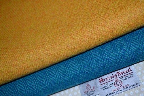 Harris Tweed Stoff 100% reine Schurwolle gemischt 2x 50/35.5cm auch als...