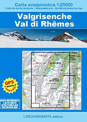 Valgrisenche, Val di Rhêmes. Carta scialpinistica 1:25.000. Ediz. multilingue