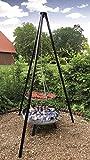 4 in 1 Multi-Grillset 'OSLO' - 180 cm Schwenkgrill mit Kettenzug und XXL Grillrost+ große...