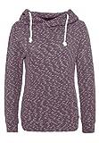 Sublevel Damen Feinstrick Hoodie | Leichter Strickpullover mit Kapuze in Blau und Lila Dark-Purple M
