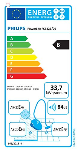 Philips FC8325/09 Aspirapolvere con sacco PowerLife ECO, classe efficienza energetica B