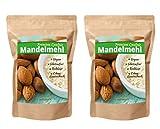 Mynatura 100% Farina di mandorle macinata bianca (senza glutine, fine, fibre alimentari, vegana e per frullati)