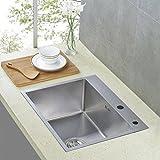 Auralum 55*45*22cm Waschbecken Spülbecken Küchenspüle Handwaschbecken Edelstahl Wasche Becken Edelstahlspüle