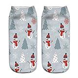 LoveLeiter Unisex Socks Weihnachts Socken Christmas Weihnachten Weihnachtssocken SchöN Frauen Socke Kurze SöCkchen Druck Sock Weihnachtsmotiv Damen Herren Strumpf Weihnachtssocke(I,Freie Größe)