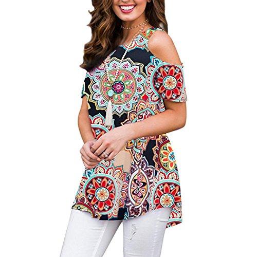 Sanfashion camicia - con bottoni - tinta unita - rimovibile - manica corta - donna multicolore l