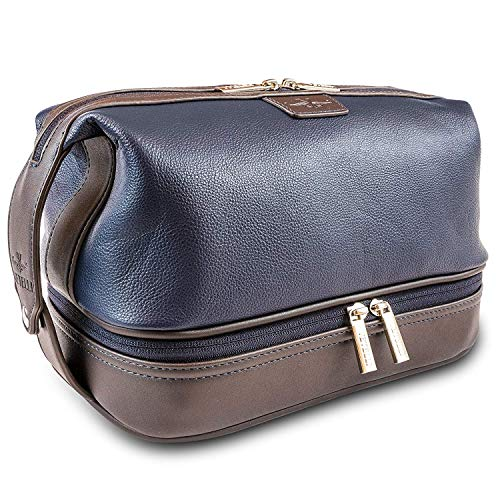 Vetelli Leo Leather Wash Bag for Men