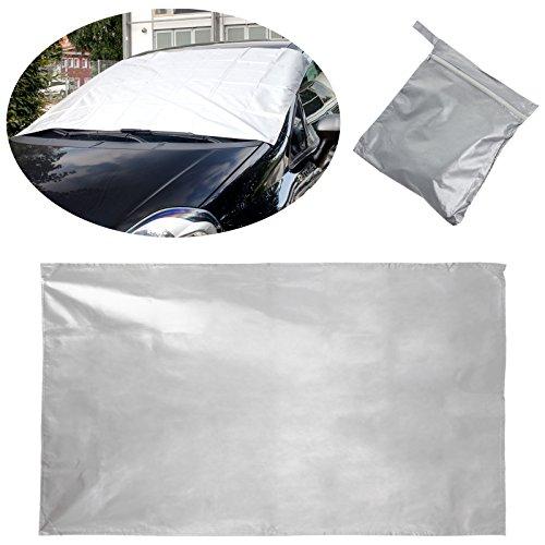 Smartfox Windschutzscheibe Frontscheibe UV Sonnenschutz Frostschutz Winter Sommer PKW Auto Abdeckung mit Magneten - 156x96cm