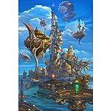 Puzzle House- PT Magical World Illustration, Jigsaw Puzzle in Legno, Dreamland Dragon e Dungeon Fine Cut & Fit 500~5000pc Boxed Toys Game Art per Adulti e Bambini -410
