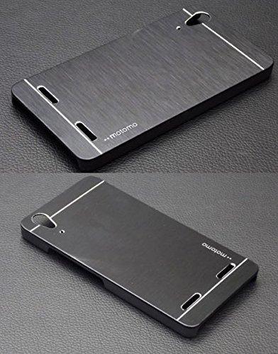 SK LENOVO A6000/A6000PLUS Luxury Metal Motomo Brush Case Cover Aluminum Hard Back Phone Cover COLOUR--BLACK