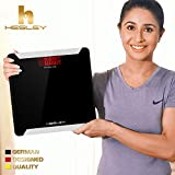 Hesley Inc Digital Weighing Scale With Advanced Step- On Technology Hsb1 - Elegant Black