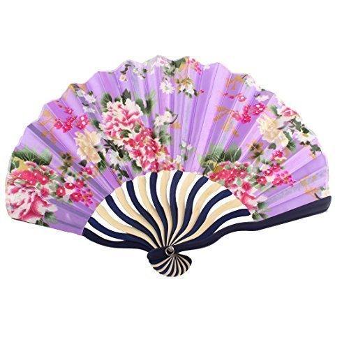 """In fibra di bambù Bamboo Floral per feste, motivo: """"Ventaglio pieghevole con ballerina"""