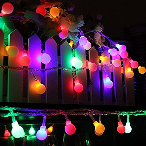Led Globe String Lights, 33ft/10m 100 LED Round Ball Indoor String Lights for Garden Party Christmas Wedding New Year Indoor Decoration, 8 Lighting Modes , Color Changing Berry Ball Lights IP65 Waterproof ,Multi Color