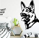 Bunte Hund Wandaufkleber Moderne Mode Wandaufkleber Für Kinderzimmer Diy Dekoration Abnehmbare Dekor Wandtattoos 58x68 cm