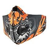 Skysper - Sport Outdoor Maschera Filtro aria di sostanze inquinanti per la guida della bicicletta Viaggiare Attività all'aria aperta di protezione universale passamontagna (N95-arancione)