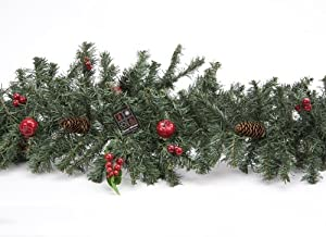 """72"""" Christmas Green Garland with Berries and Pinecones (PM44)"""