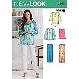 New Look Damen Schnittmuster 6292, Tunika und Hosen, Gr. A, mehrfarbig