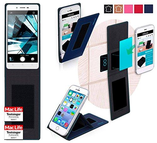 reboon Hülle für Oppo Mirror 5s Tasche Cover Case Bumper | Blau | Testsieger