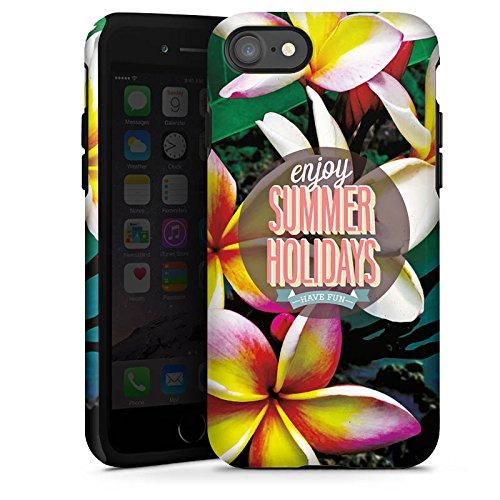 Apple iPhone X Silikon Hülle Case Schutzhülle Sommer Ferien Statement Tough Case glänzend