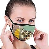 Just Relax Shop Monarch Erfly Staubmaske für Staub-Mundmaske, waschbar und wiederverwendbar, Weiß/Schwarz