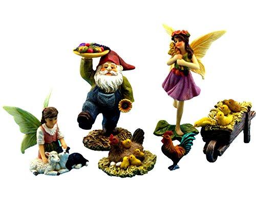 (Pretmanns Zubehör–Miniatur Fairy Garden Ornaments & Fairy Farm Tiere–6Stück)